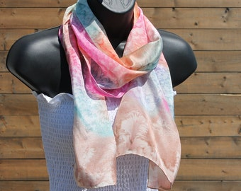 Just Beachy ... hand painted silk scarf