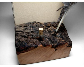 Charming Scribe Station - Feather, Ink, and Aged Paper by Tanja Sova