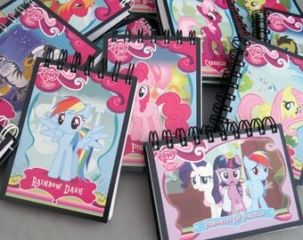My Little Pony Mini Notebook - Recycled Trading Cards