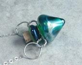 Faerie Celebration ---Tiny Lampwork Poison Bottle Necklace