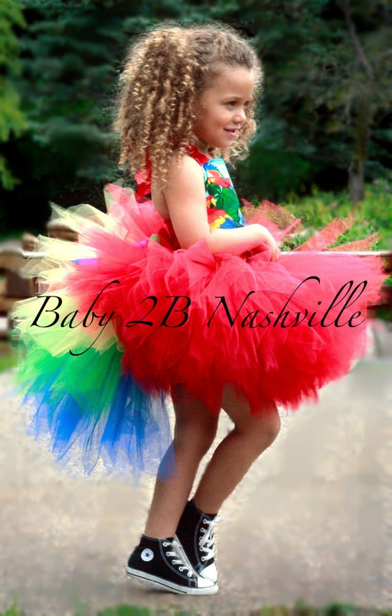 Pirate Parrot Costume Tutu Set  All Sizes Baby - 8
