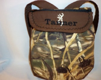 Camo back pack youth toddler boys girls choose Mossy Oak max 4 duck blind or pink or brown realtree choice of camo birthday gift party favor