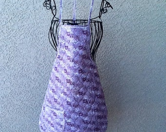 PURPLE QUILTED Bib Apron