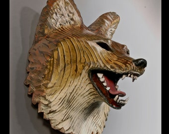 Coyote Mask Rustic wall art by Jason Tennant