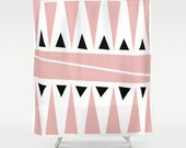 Modern Shower Curtain, Pink Shower Curtain, Designer Bathroom decor, Original shower curtain
