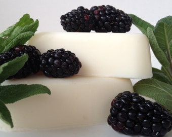 Blackberry Sage Goat's Milk Soap - Fresh Herbal Unisex Fragrance