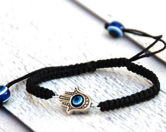 Hamsa bracelet Evil eye bracelet good luck charm bracelet