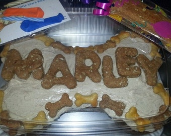 Liver Bow Wow Bone Cake-Home Baked All Natural- No Preservatives