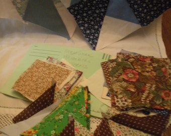 Assorted Vintage Patchwork Fabric Pieces for Making Potholders  Instructions or Pattern Included