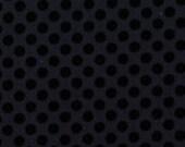Cotton Black Polka Dot Fabric by the Yard - Ebony Ta Dot by Michael Miller