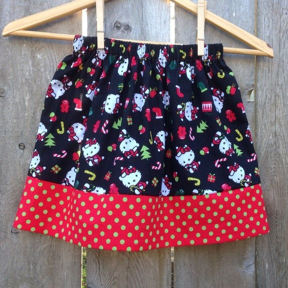 Hello Kitty Christmas Skirt (((ready to ship))) SALE