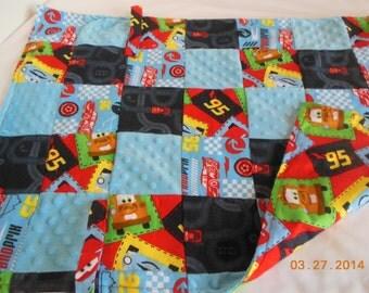 Cars/Flannel/Minky Stroller Blanket