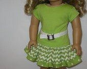 American Girl Doll Clothes - Lots of Lime Collection - Skirt Outfit