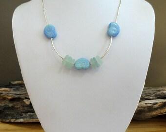 Sea Glass Necklace-Real Sea Glass-Gift Idea-Valentine Gift Idea - Sea Glass Jewelry - Valentines Day - Valentine