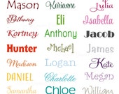 Name Wall Decal • Extra Large Wall Decal for Nursery Bedroom Decor • Childs Name Word Wall Decal • Playroom Wall Decal