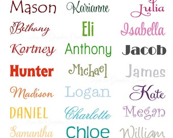 Name Wall Decal • Small Wall Door Decal for Nursery Bedroom Decor • Childs Name Word Wall Decal • Playroom Perfect for Bedroom Door