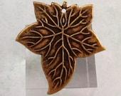 Maple Leaf Pendant, Brass Ox, Trinity Brass, AB97