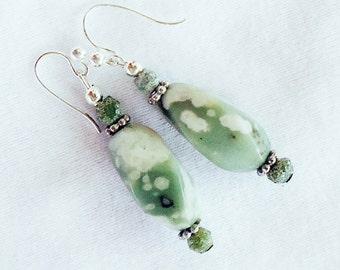 SALE, Peace Jade Earrings