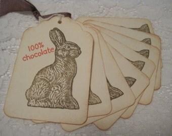Handmade Gift Tags - 100% Chocolate Easter Bunny