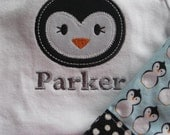Penguin Applique Boy Outfit  Baby Custom Boutique - adorableblessings