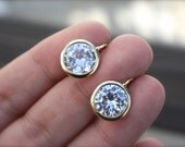 PERFECT Round CZ Every Day Earrings- Choice of Gold Filled or Sterling