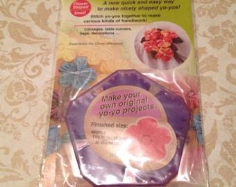 Set of 3 Yo-yo Makers: Lg round, Sm round & Flower shaped