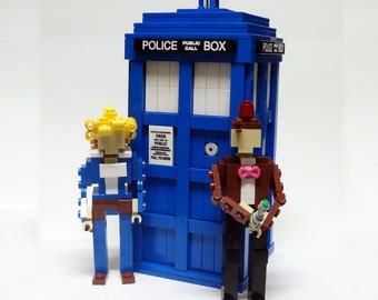 Doctor,River, and Blue Box Wedding Cake Topper