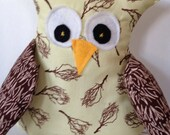 The yellow guy plush owl