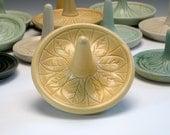 Yellow Porcelain Ring Holder