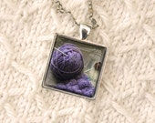 Pendant Necklace Fine Art Photography Print of a Knitting Still Life Knitter Gift Idea by J. L. Fleckenstein