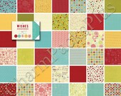 WISHES by Sweetwater - Moda Charm Pack - 5-inch Quilt Fabric Squares Blocks