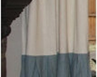Custom Linen Color Block Drape with Lining - You pick the colors