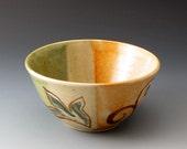 Small Ceramic Bowl, Celadon and Shino, Handmade Clay Bowl, Bowls