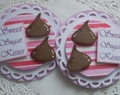 Valentine Hershey Kissses Paper Embellishments-Set Of 2