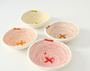 Cotton cord set of 4 mini bowl assorted colors