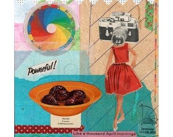 Prune Girl // Collage Art Print