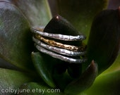 Gold Vermeil Raw Ring | Stacking Ring | Vermeil Ring