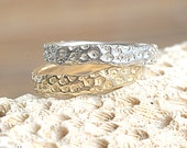 Silver Coral Band | Stacking Ring | Nature Inspired Ring