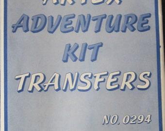 Vintage Artex Iron On Adventure Transfers Pattern