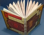 """Vintage Clue Game Board Coptic Bound Upcycled """"BOOS"""" Journal"""