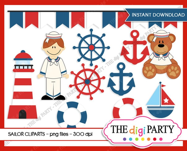 sailor teddy bear clipart nautical teddy baby shower sailor