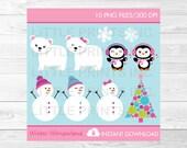 Snowman Penguin Polar Bea...