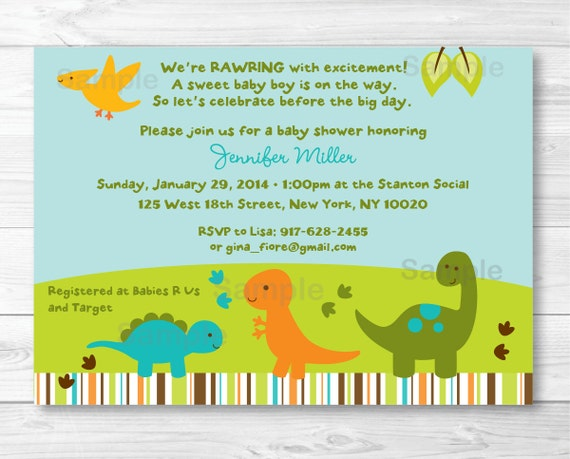 Mesmerizing image pertaining to free printable dinosaur baby shower invitations