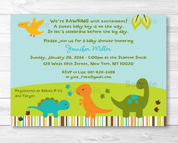 Sassy image with free printable dinosaur baby shower invitations