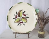 Vintage Blue Ridge Plate - Southern Potteries - Hand Painted Wild Cherry Pattern