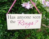 Has anyone seen the Ring wood sign ring bearer flower girl wedding sign