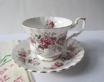 Vintage Teacup and Saucer Royal Albert Lavender Rose English Bone China