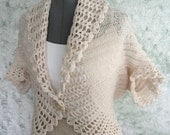 Womens Lace Trimmed Crochet Shrug Pattern In 3 Sizes Easy To Make Instant Dowload