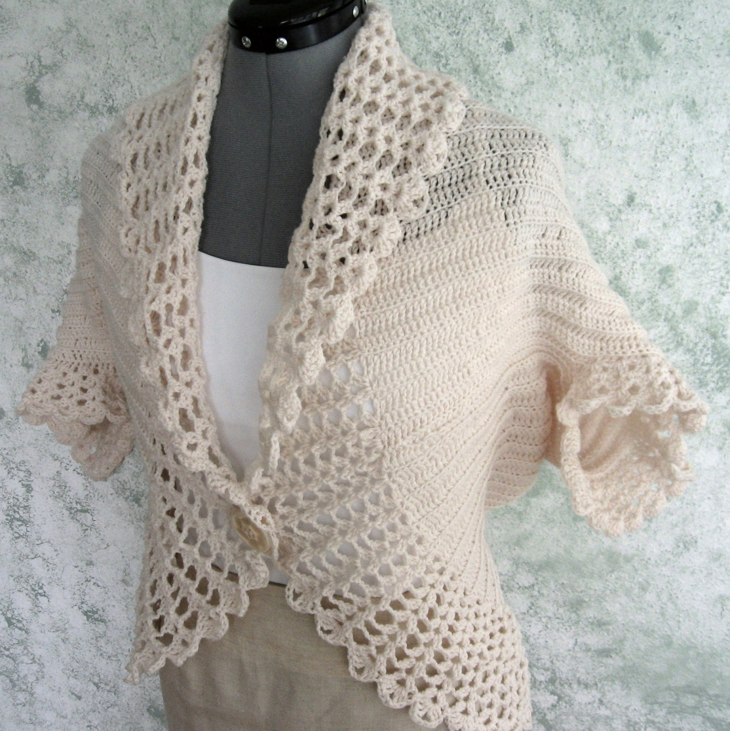 Crochet Lace Bolero Pattern: Free lacy crochet patterns and knit ...