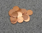 "3/4"" Copper Disc 24 Gauge  Pack of 24"